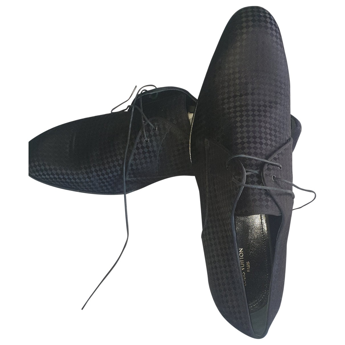 Louis Vuitton \N Schnuerschuhe in  Schwarz Tweed