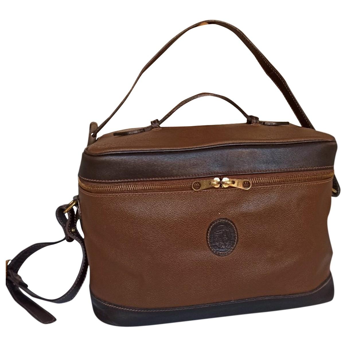 Trussardi - Sac de voyage   pour femme en cuir - marron
