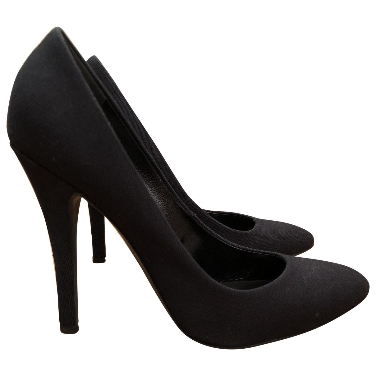 Giuseppe Zanotti X Balmain \N Black Cloth Heels for Women 37.5 EU