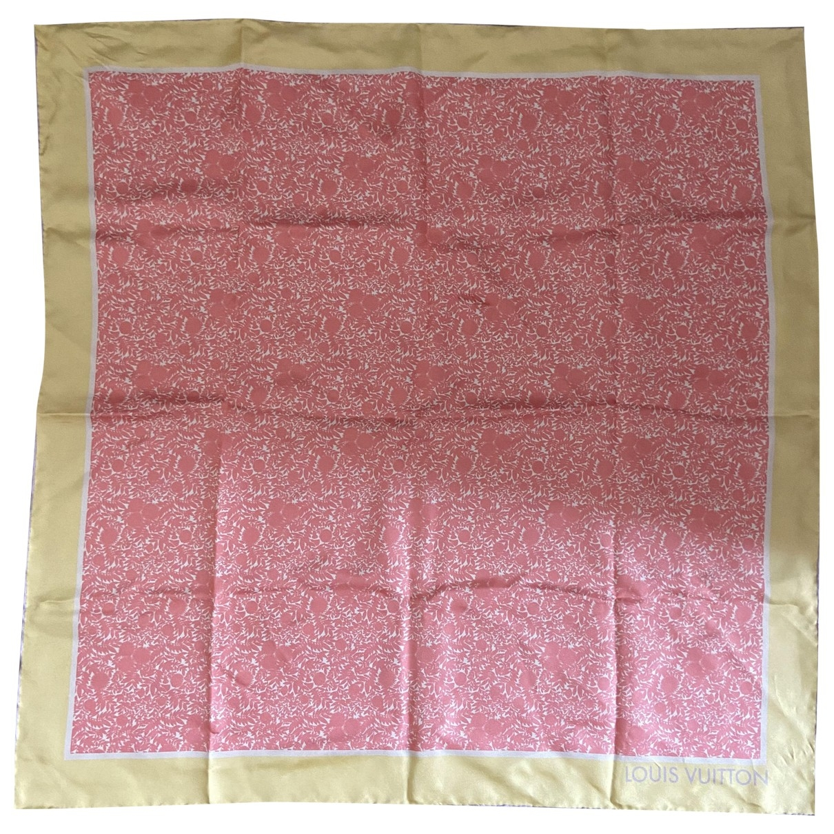 Louis Vuitton - Carre   pour femme en soie - rose