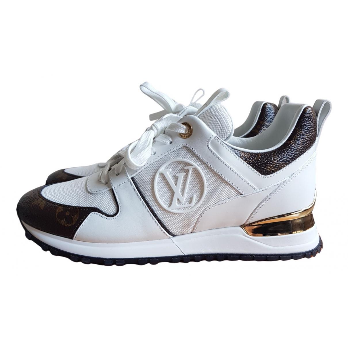 Louis Vuitton - Baskets Run Away pour femme en cuir - blanc