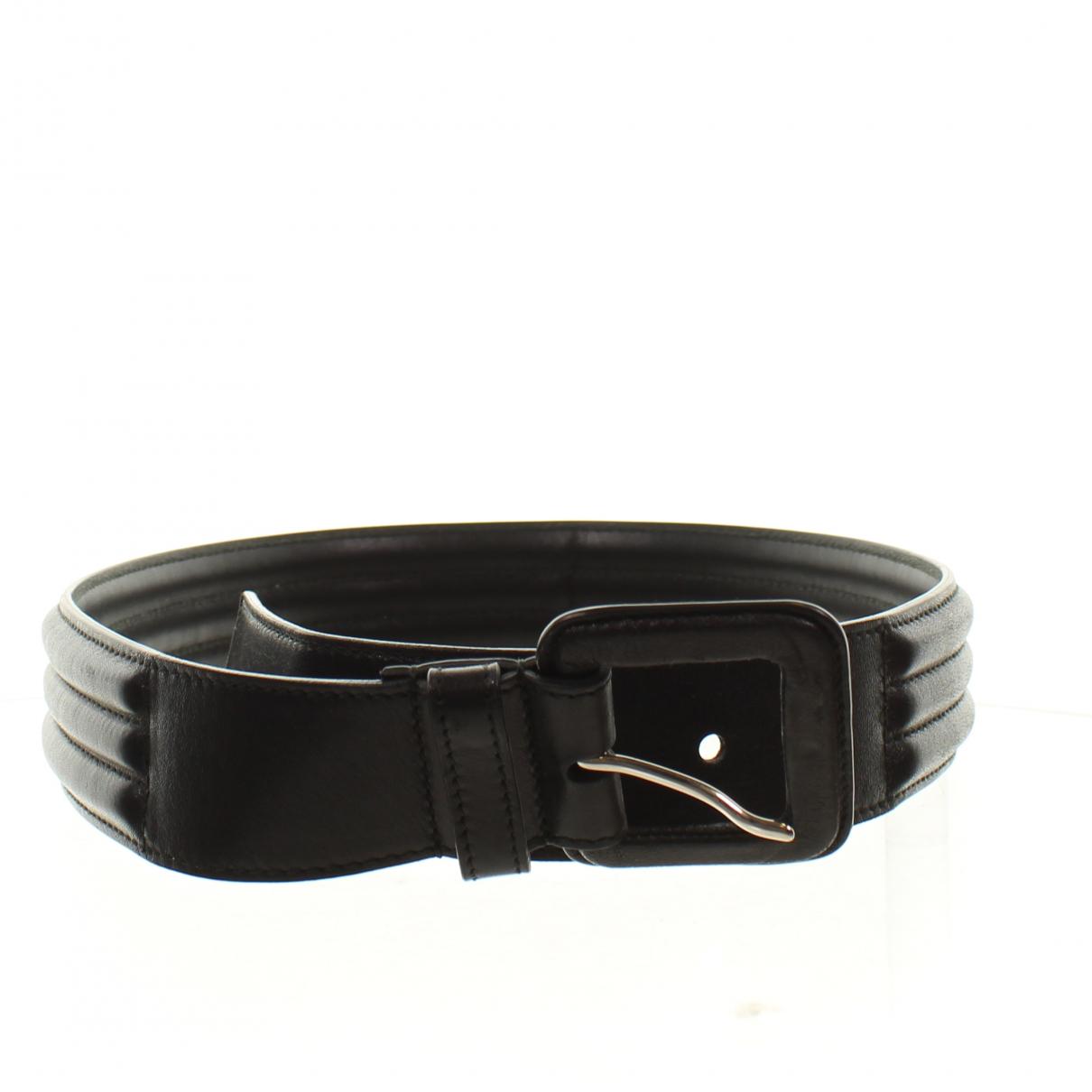 Yves Saint Laurent \N Black Leather belt for Women 31 Inches