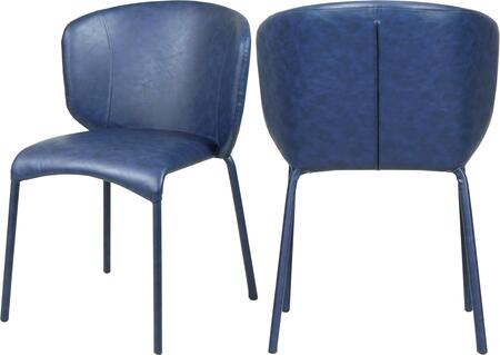 703NAVY-C Set of two Chairs Drew Navy Faux Leather Dining