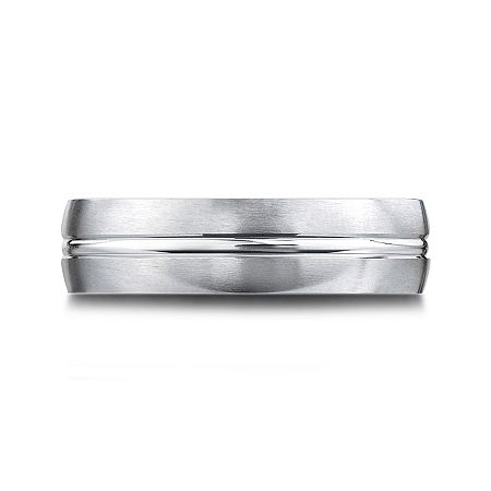 Mens 10K White Gold 6mm Band, 11 1/2 , No Color Family