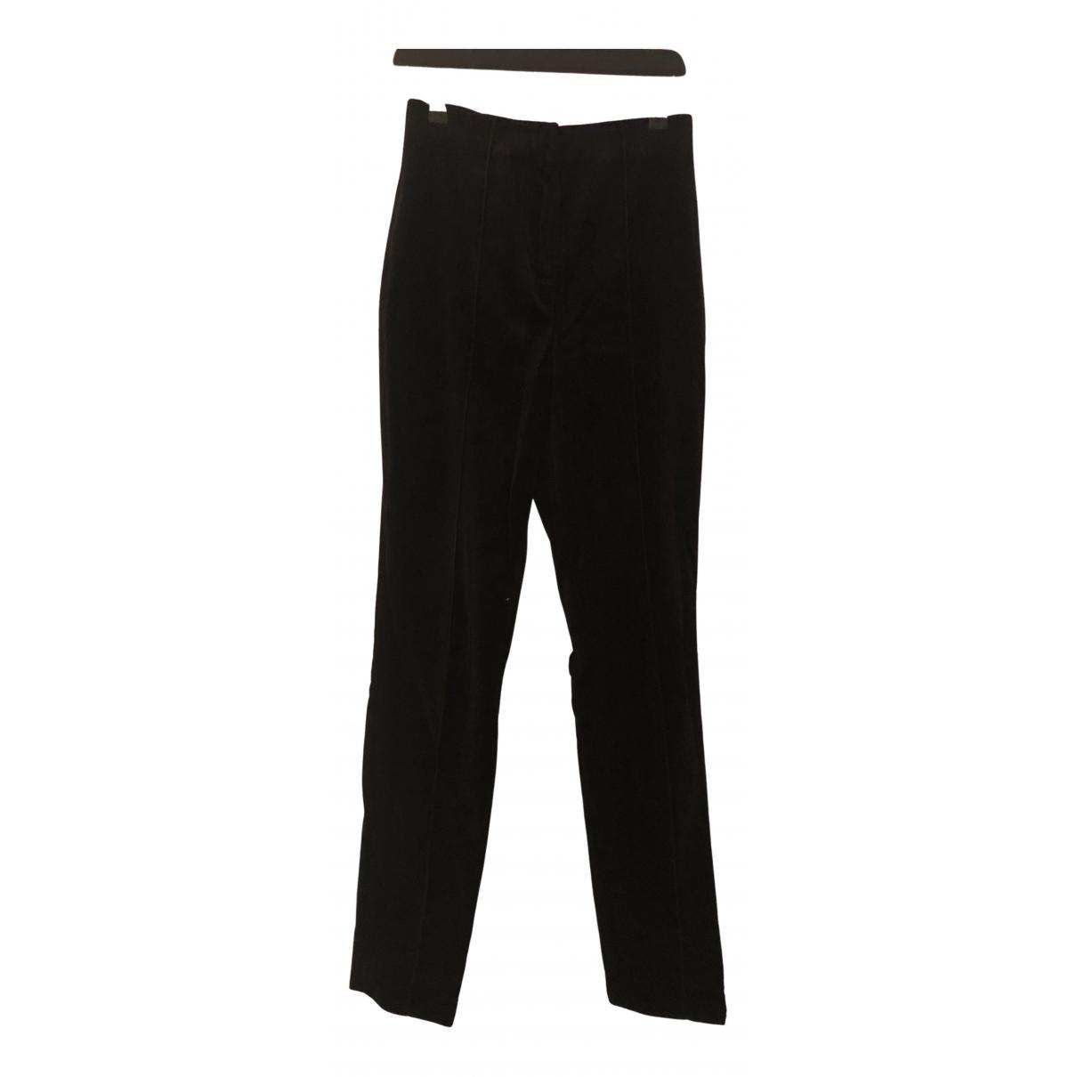 Diane Von Furstenberg N Black Velvet Trousers for Women 2 US