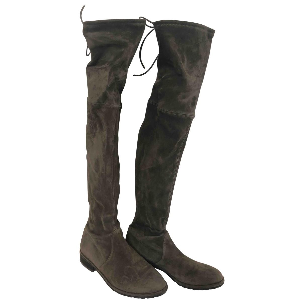 Stuart Weitzman \N Brown Suede Boots for Women 35 EU