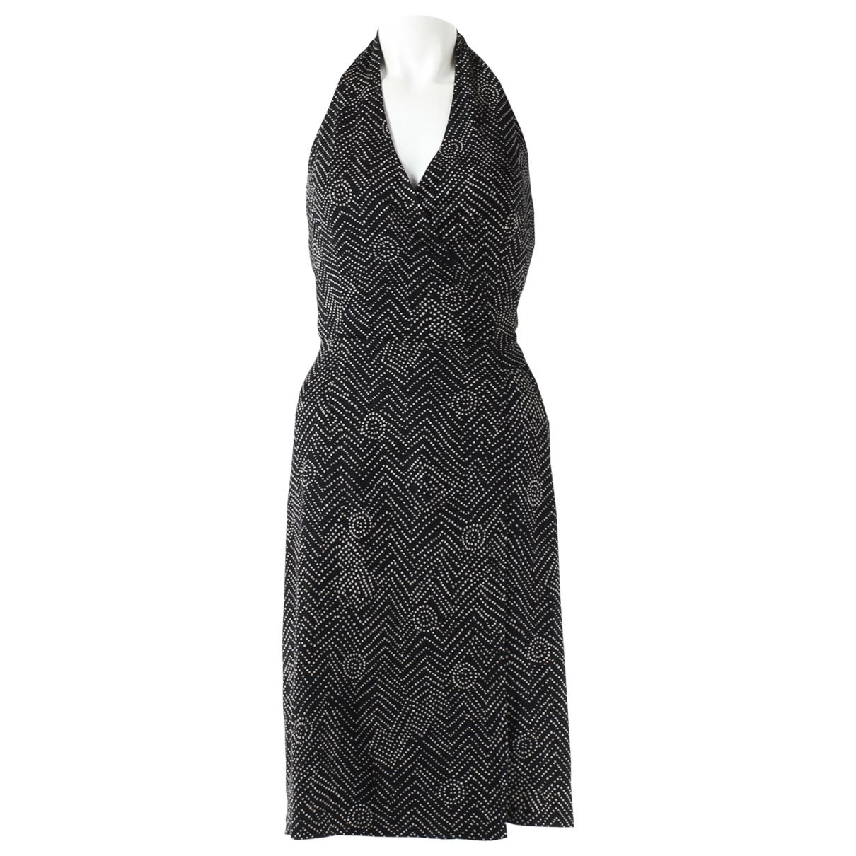 Diane Von Furstenberg \N Kleid in  Schwarz Baumwolle