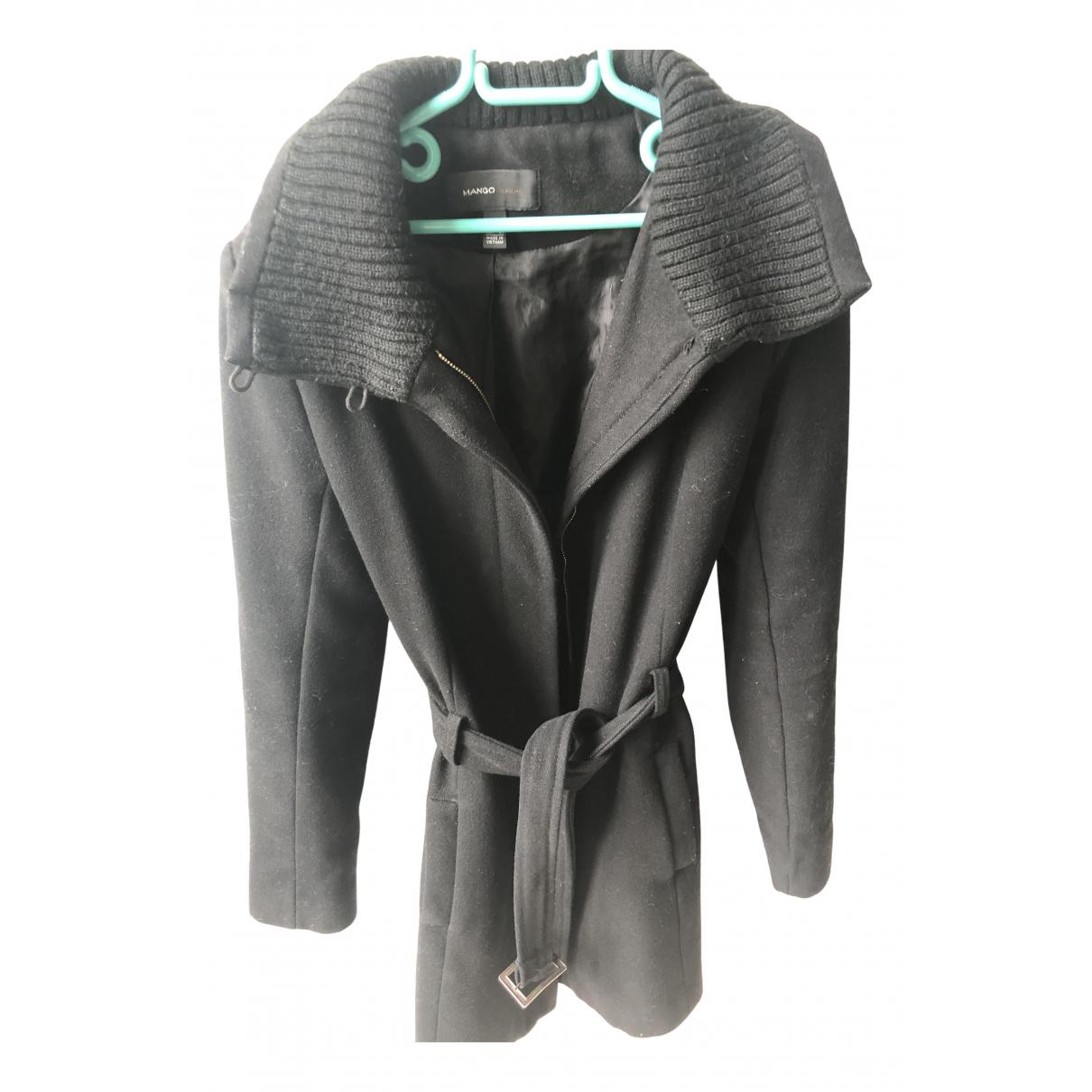 Mango N Black Cotton coat for Women 36 FR