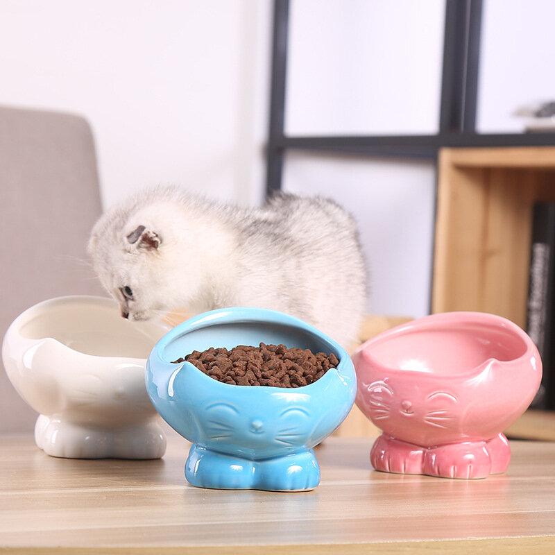 Eco-friendly Orthopedic Cat Bowl Cat Neck Protect Non-slip Bowl