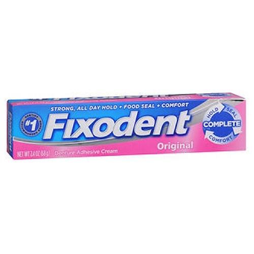 Fixodent Denture Adhesive Cream Original 2.4 Oz by Fixodent
