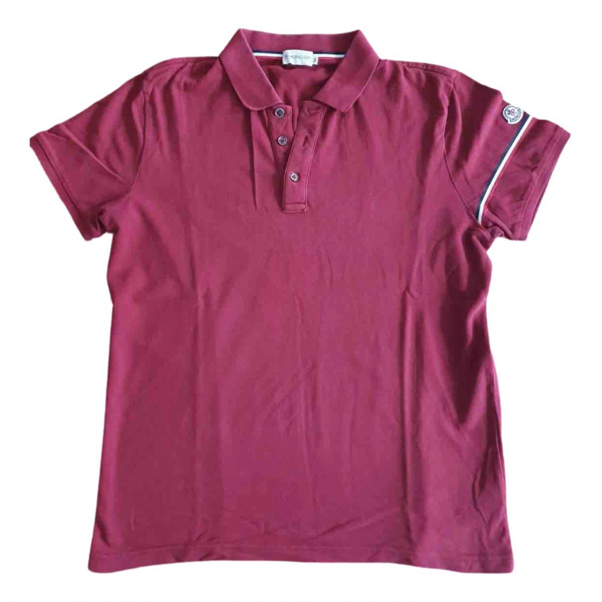 Moncler - Polos   pour homme en coton - rouge