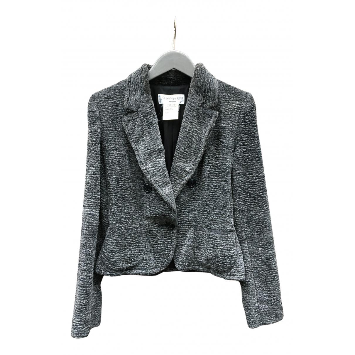 Yves Saint Laurent N Anthracite jacket for Women 38 FR