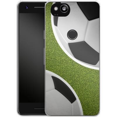Google Pixel 2 Silikon Handyhuelle - Two Footballs von caseable Designs