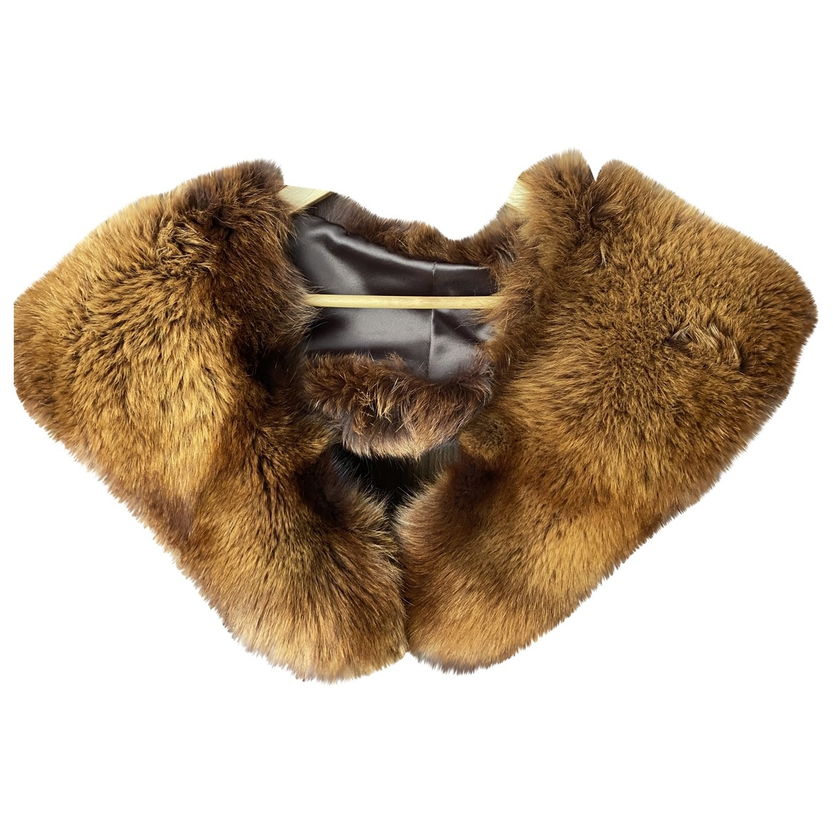 Non Signé / Unsigned \N Brown Fox scarf for Women \N