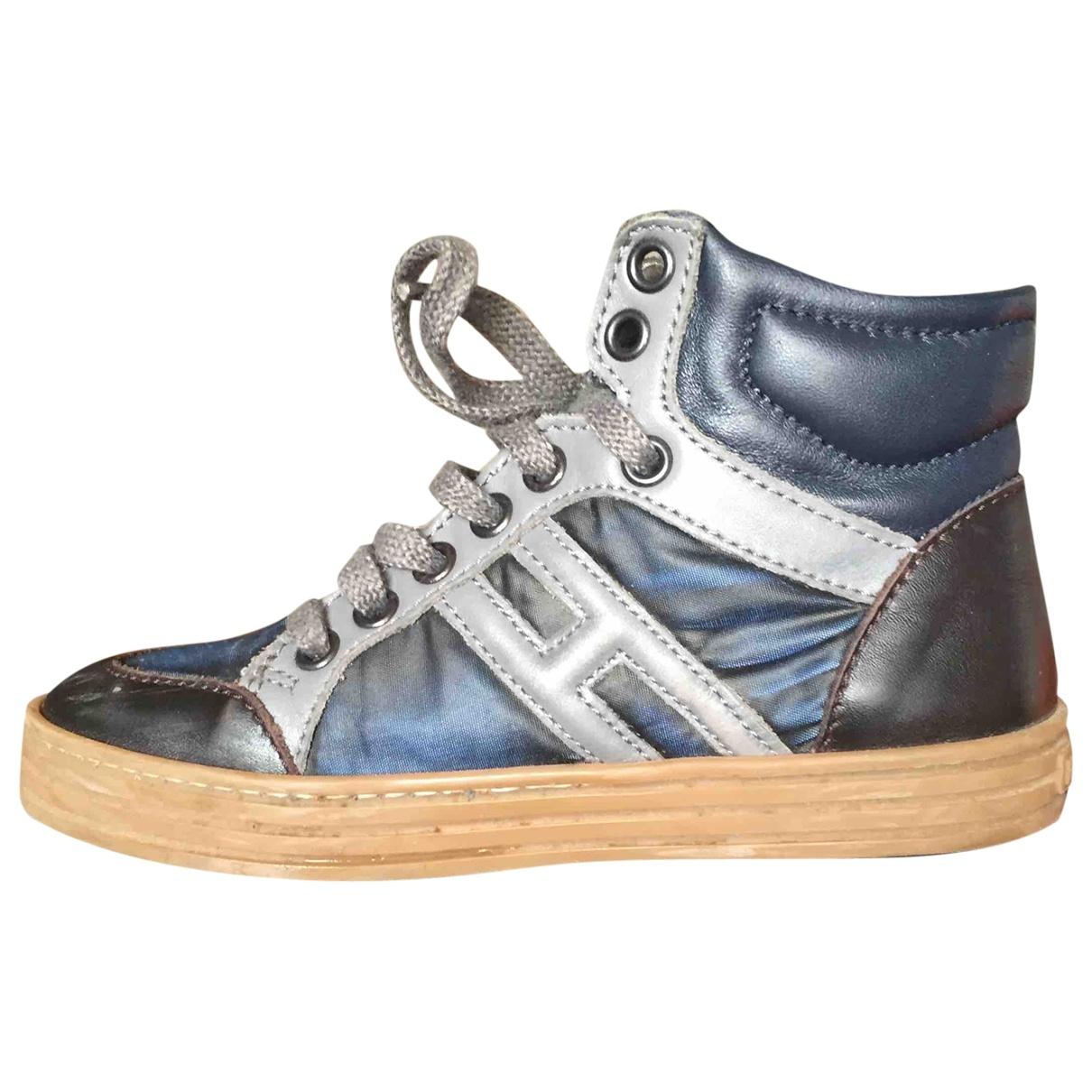 Hogan - A lacets   pour enfant en cuir - bleu