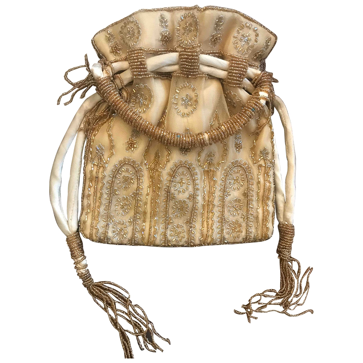 Non Signe / Unsigned \N Clutch in  Beige Polyester
