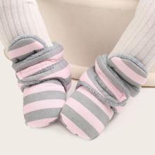 Baby Maedchen Stiefeletten mit Streifen