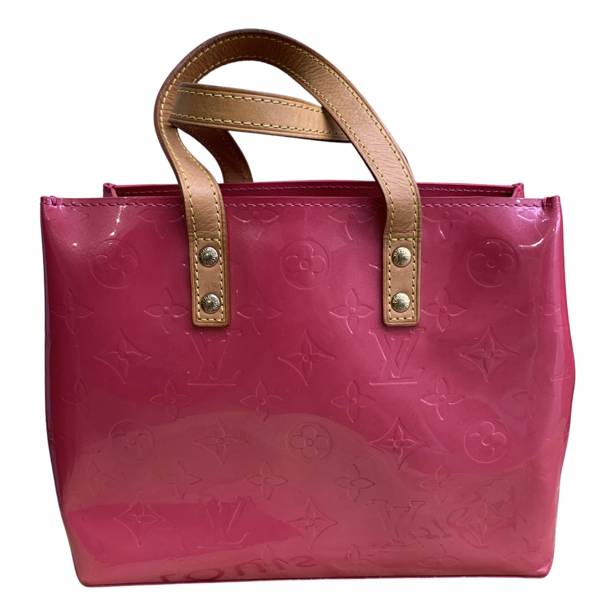 Louis Vuitton Reade Handtasche in  Rosa Lackleder