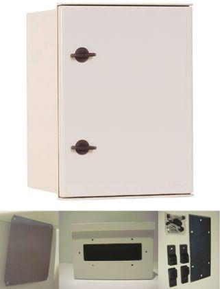CAHORS MINIPOL, Glass Reinforced Plastic Wall Box, IP65, 200mm x 400 mm x 300 mm, Grey