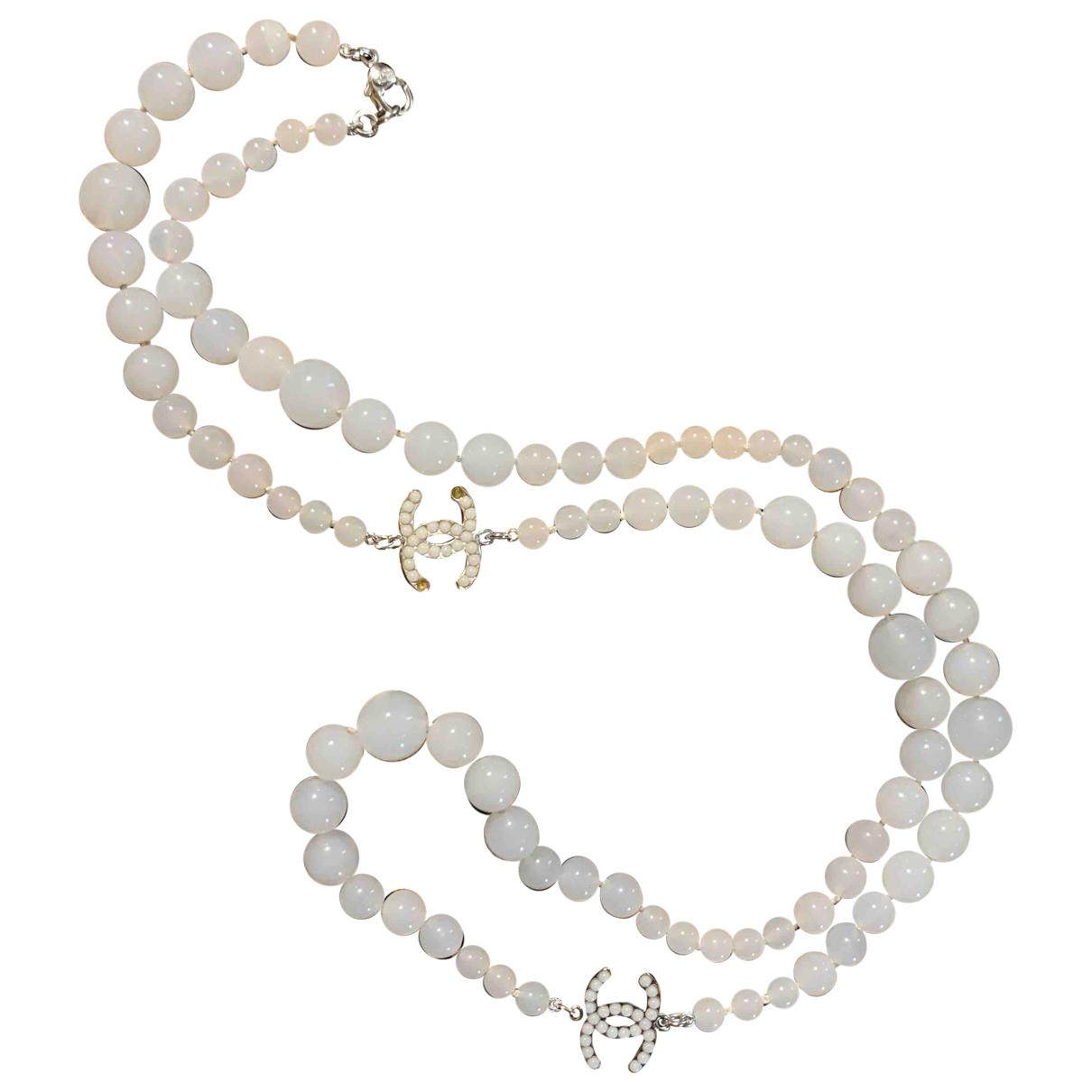 Chanel - Collier Baroque pour femme - blanc