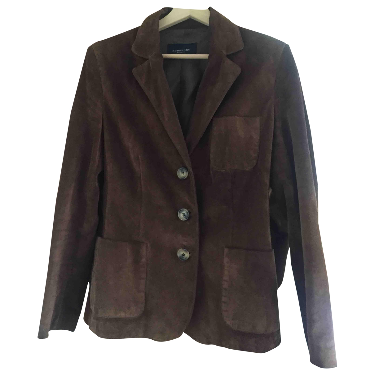 Burberry \N Brown Suede jacket for Women 42 IT