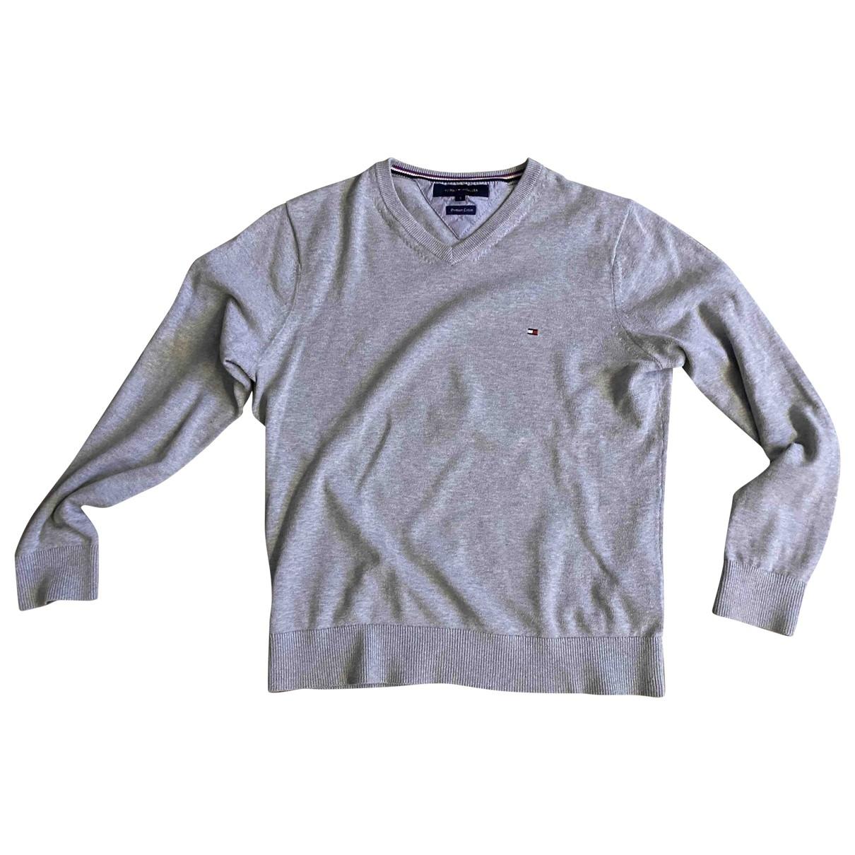 Tommy Hilfiger \N Grey Cotton Knitwear & Sweatshirts for Men S International