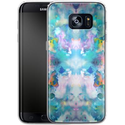 Samsung Galaxy S7 Edge Silikon Handyhuelle - Paint Splatter von caseable Designs