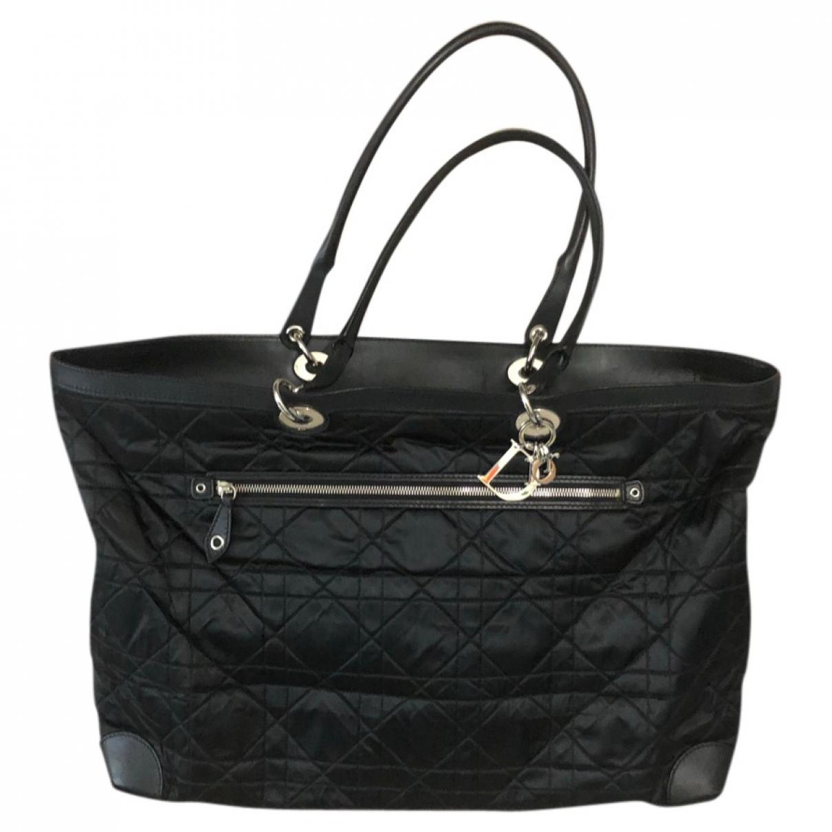 Dior - Sac de voyage Lady Dior pour femme en toile - noir