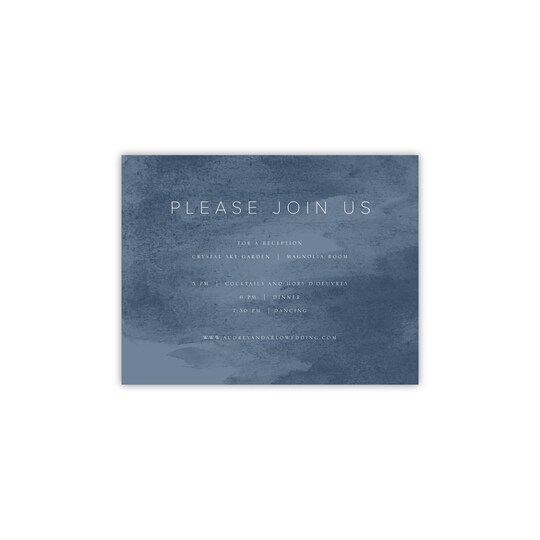 20 Pack of Style Me Pretty Personalized Clean & Classic Flat All Purpose Card in Slate Blue | 4.25