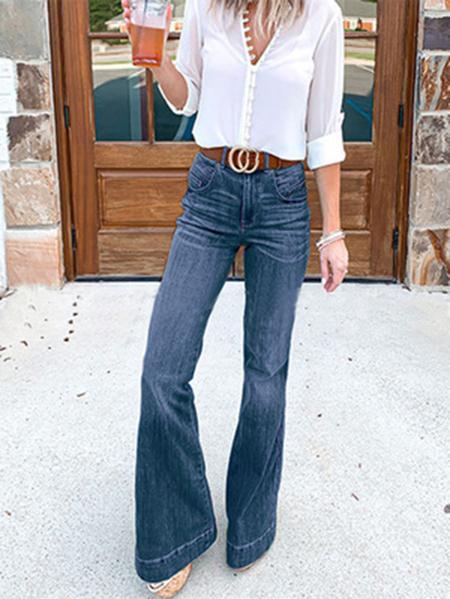 Yoins Wide leg High Waist Casual Jeans