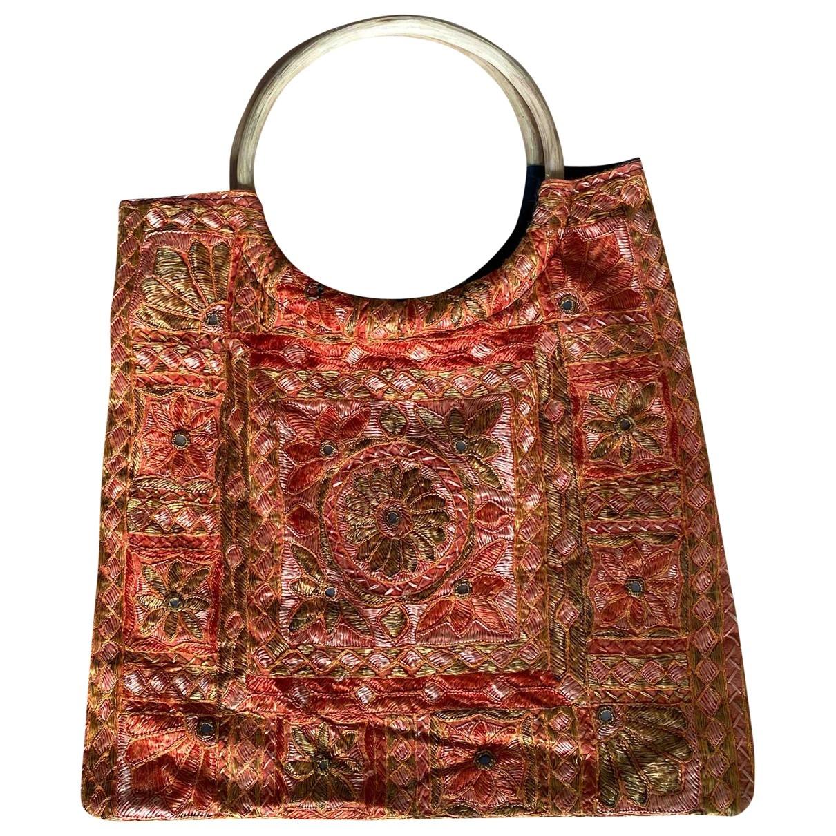 Non Signé / Unsigned \N Orange Cotton handbag for Women \N