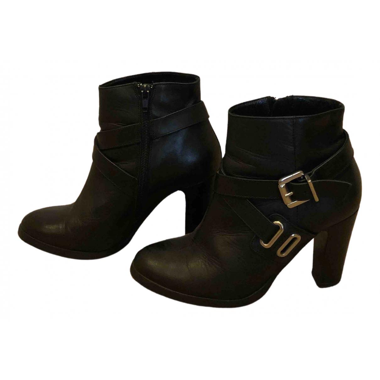 Minelli \N Stiefel in  Schwarz Leder