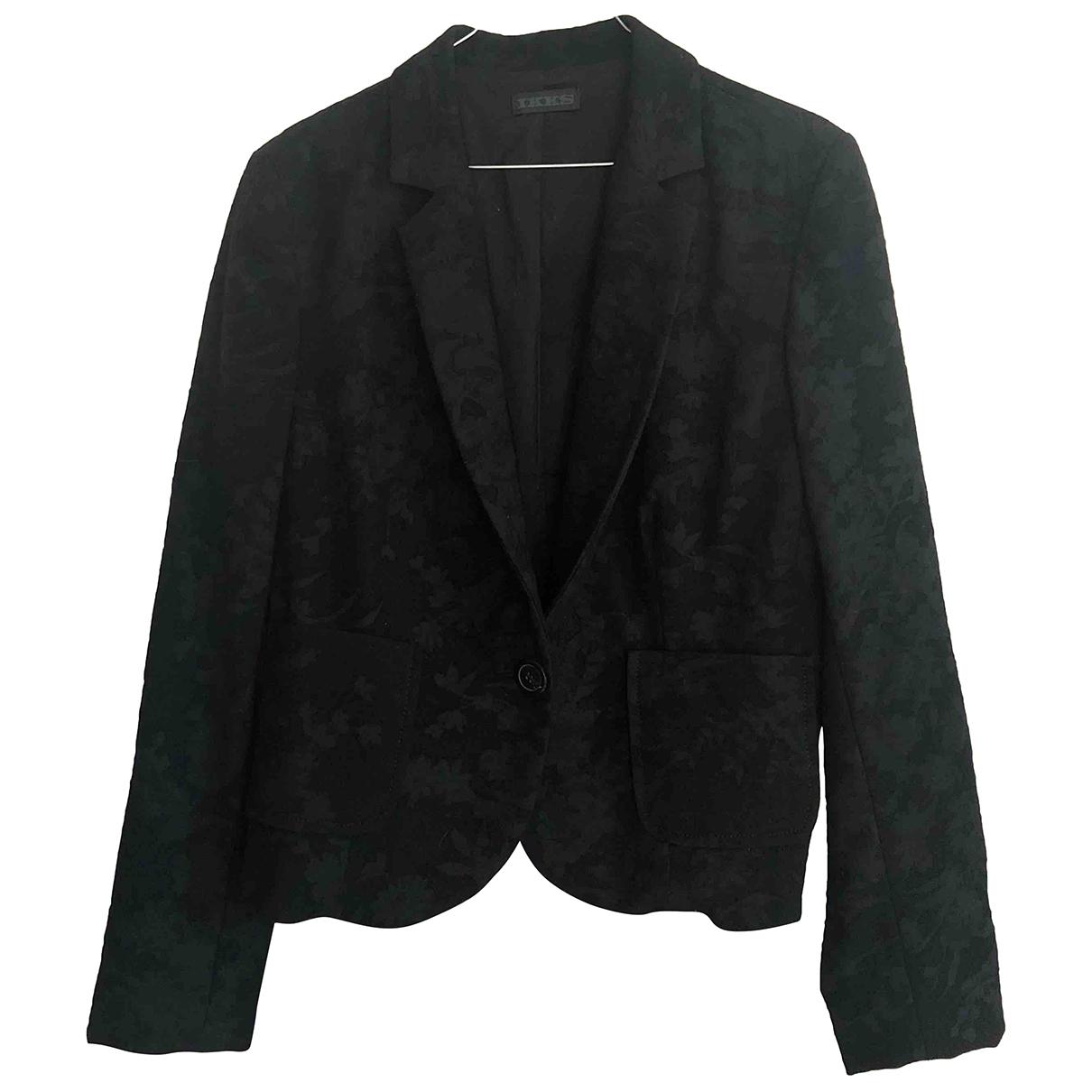 Ikks - Veste   pour femme en laine - noir