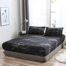 1 Stueck Bettuch mit Marmor Muster