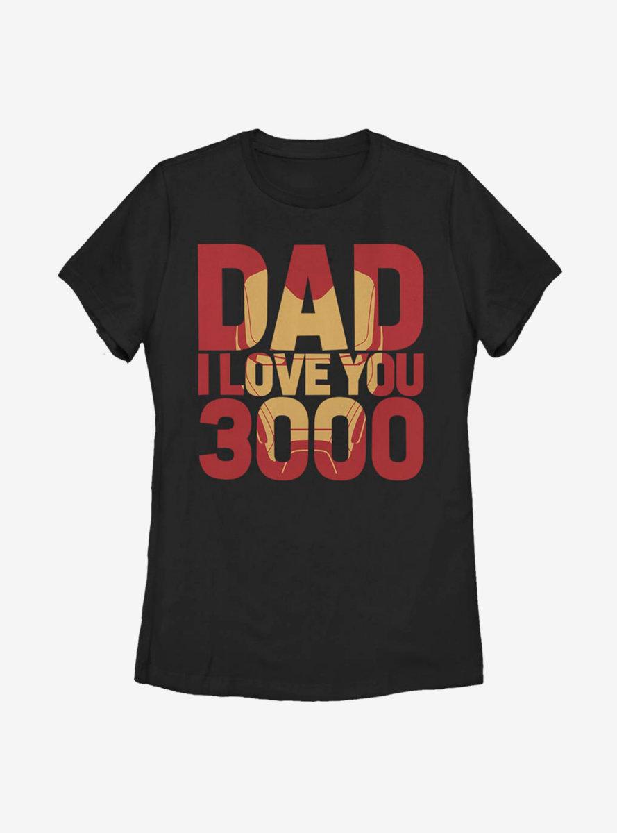 Marvel Iron Man Iron Dad 3000 Womens T-Shirt