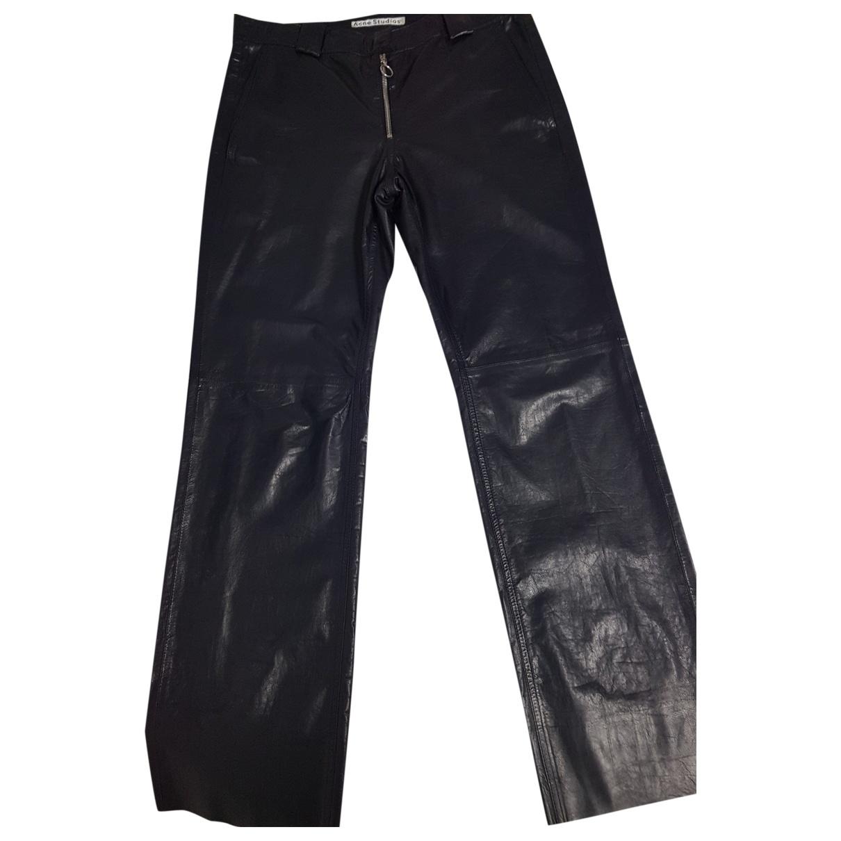 Pantalon recto de Cuero Acne Studios