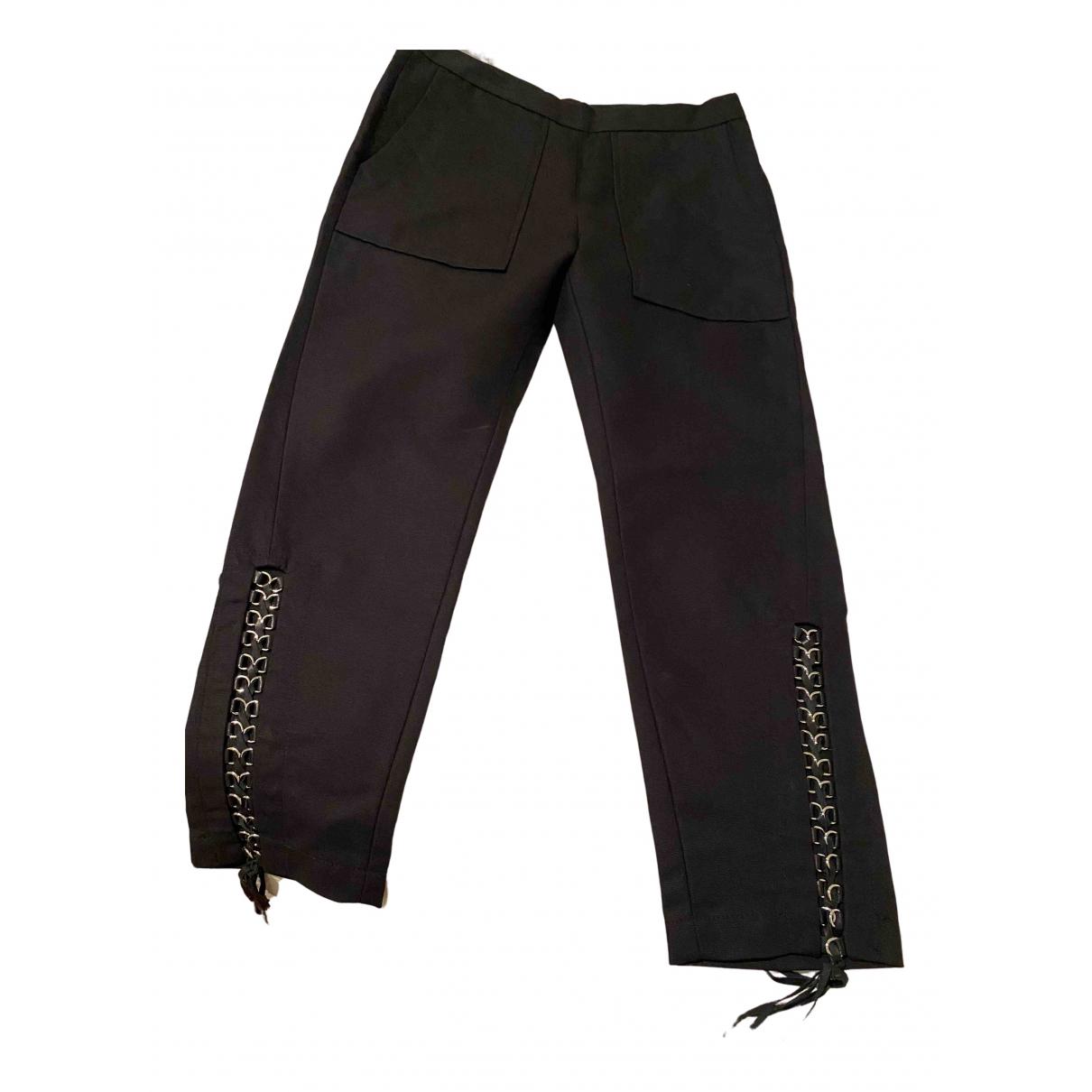 Isabel Marant N Black Cotton Trousers for Women 38 FR