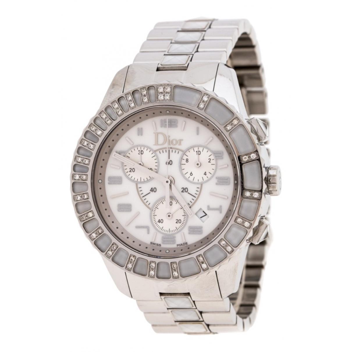 Dior Christal Uhr in  Weiss Stahl