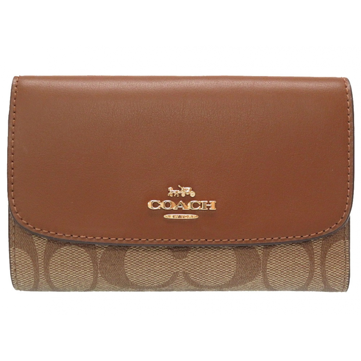 Coach \N Camel Cloth wallet for Women \N