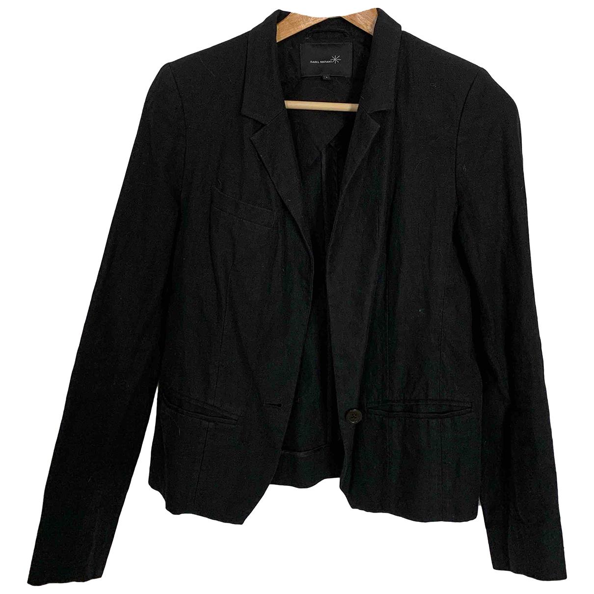 Isabel Marant Etoile \N Black Linen jacket for Women 1 0-5