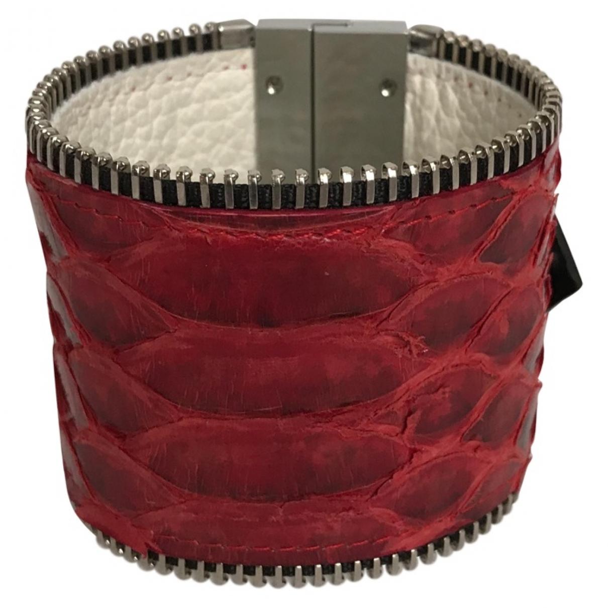 - Bracelet   pour femme en python - rouge