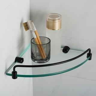 Kraus KEA-18846 Elie 8 Glass Bathroom Shelf (Matte Black)