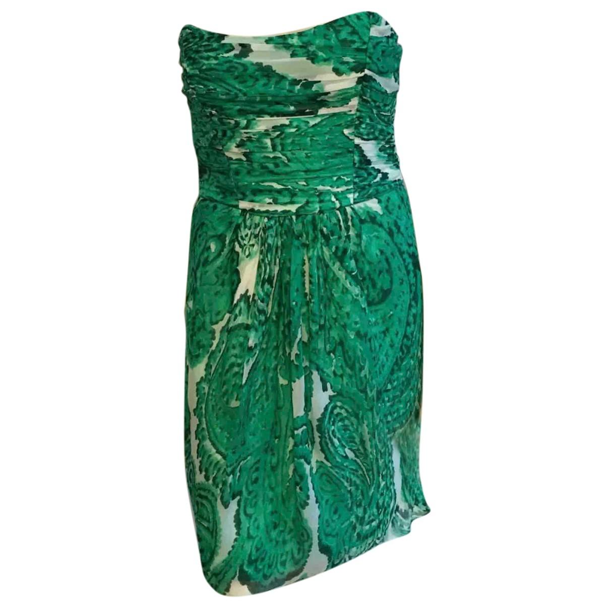 Milly \N Kleid in  Gruen Seide