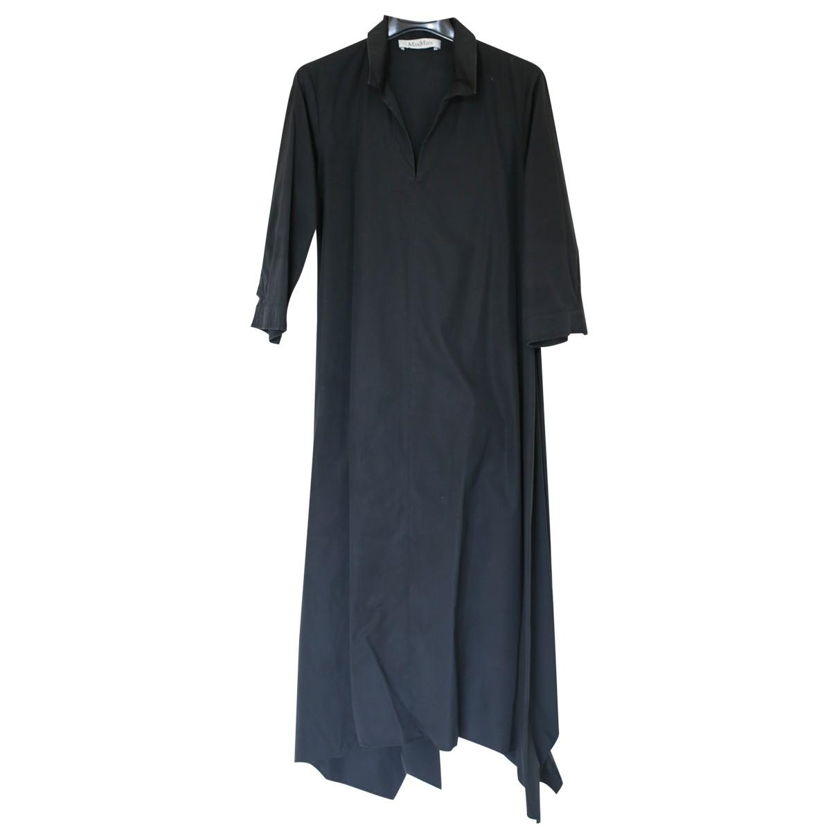 Max Mara - Robe   pour femme en lin - noir