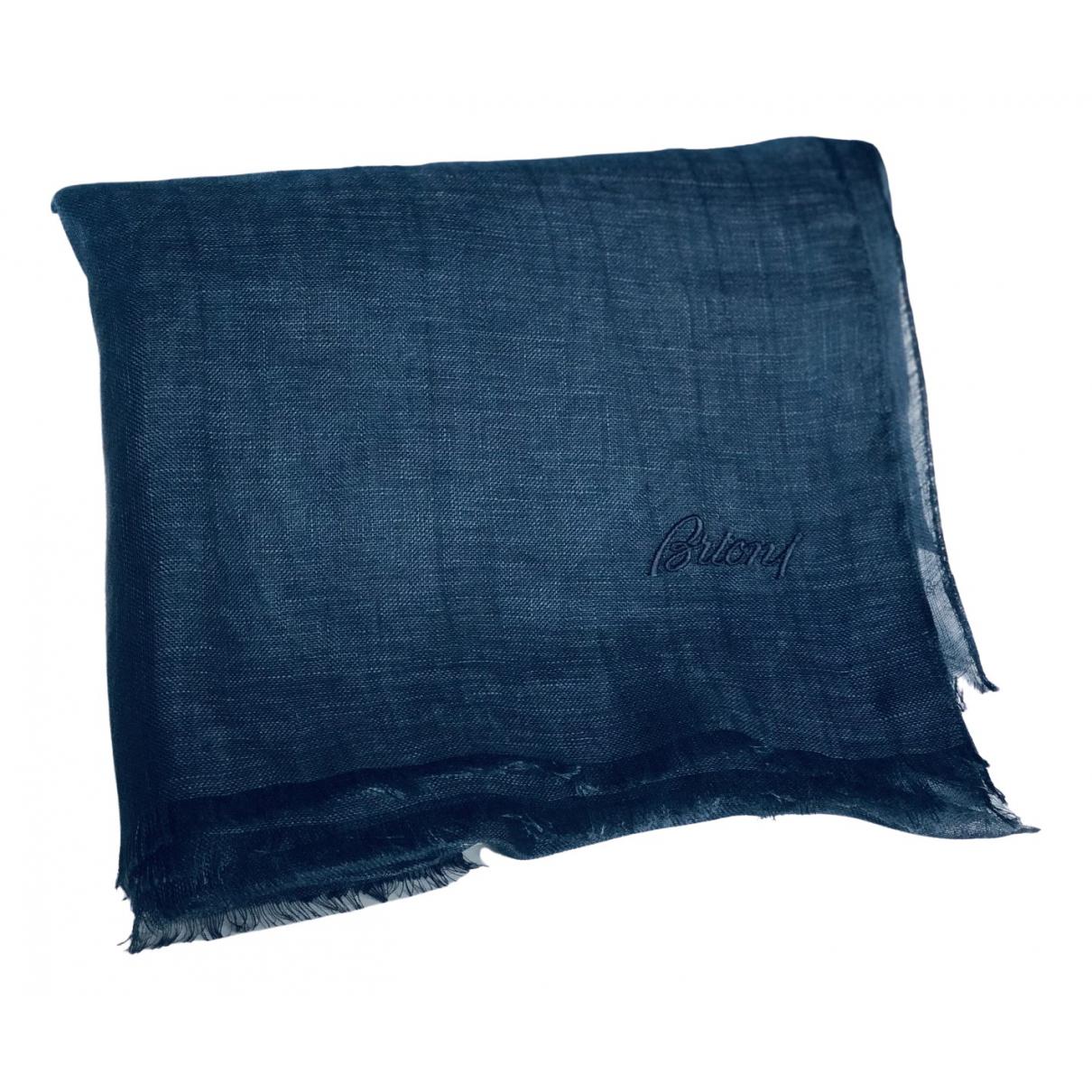 Brioni - Cheches.Echarpes   pour homme en lin - bleu