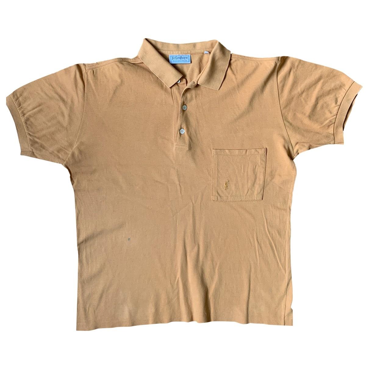 Yves Saint Laurent - Polos   pour homme en coton - orange