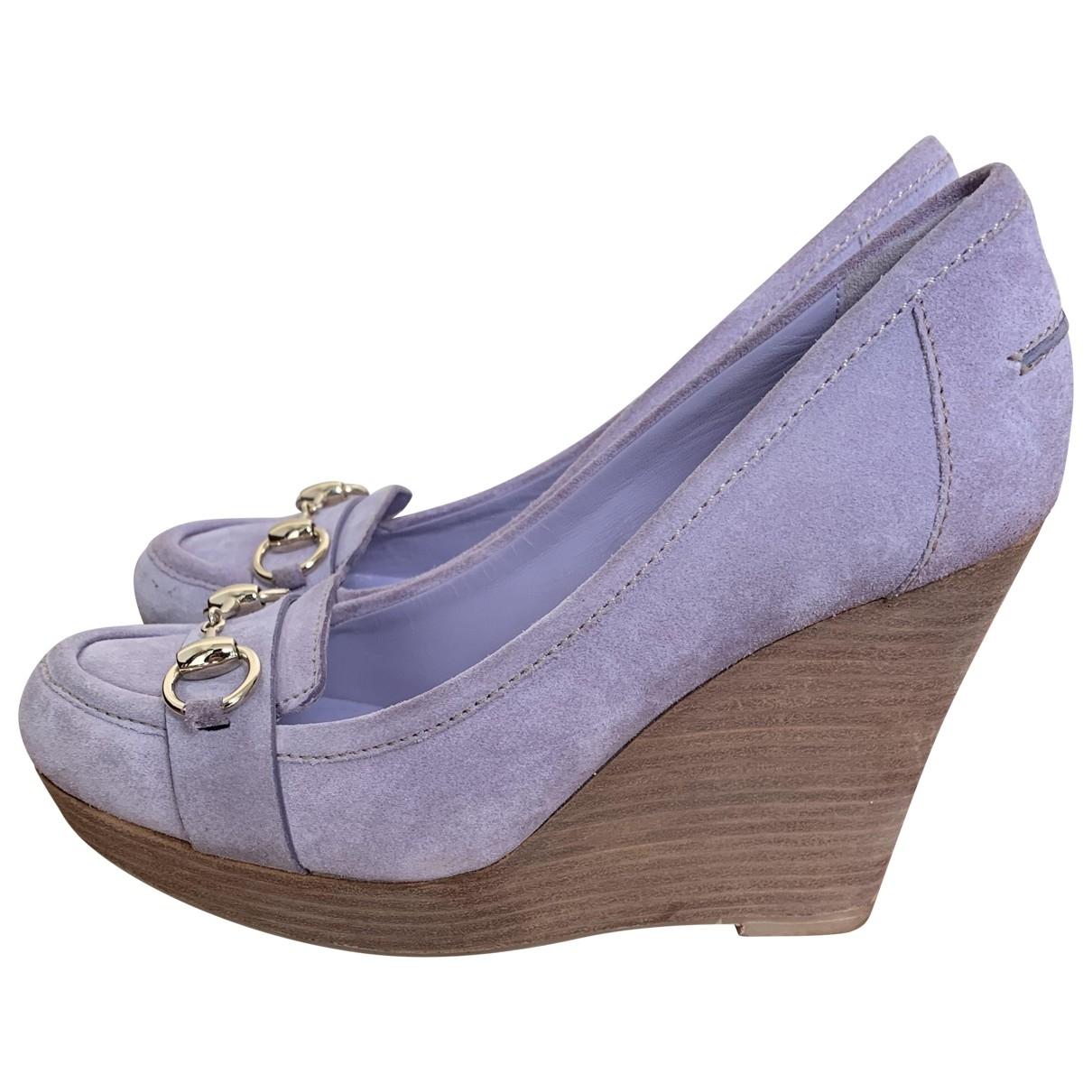 Gucci \N Purple Suede Heels for Women 38 EU