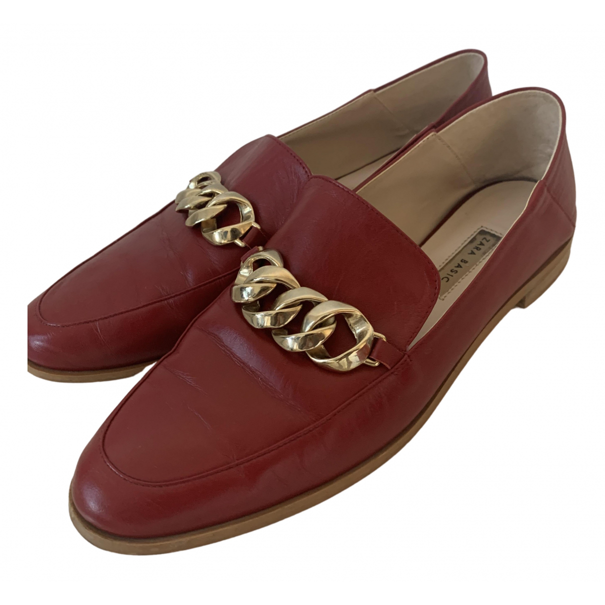 Zara N Red Leather Mules & Clogs for Women 40 EU