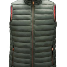 Guys Funnel Neck Zip Up Puffer Gilet