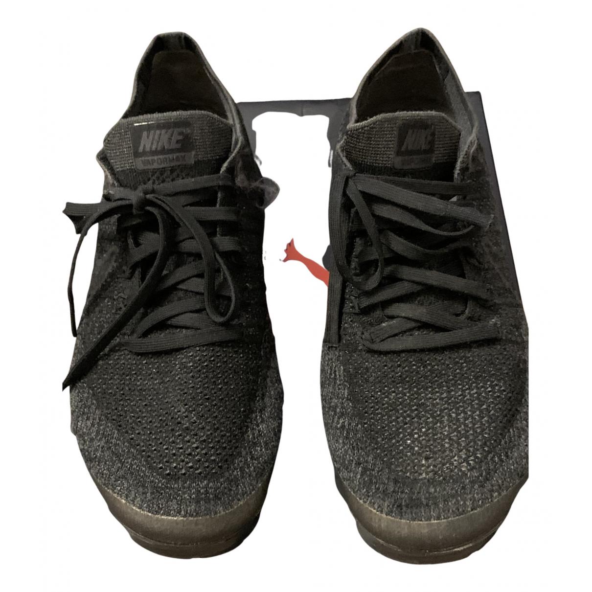 Nike - Baskets Air VaporMax pour femme en toile - noir